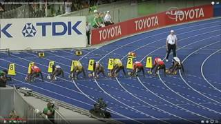 Usain Bolt - 7 World Records in 100, 200 & 4x100m (9.72, 9.69, 9.58),  (19.30 19.19), (37.10 36,85)