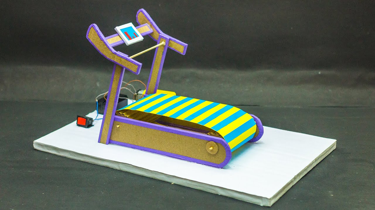 How to Make a Treadmill From Cardboard   Science Projects