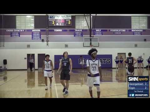19-5A Texas Boys High School Basketball - Georgetown vs. Elgin - 1/19/2018