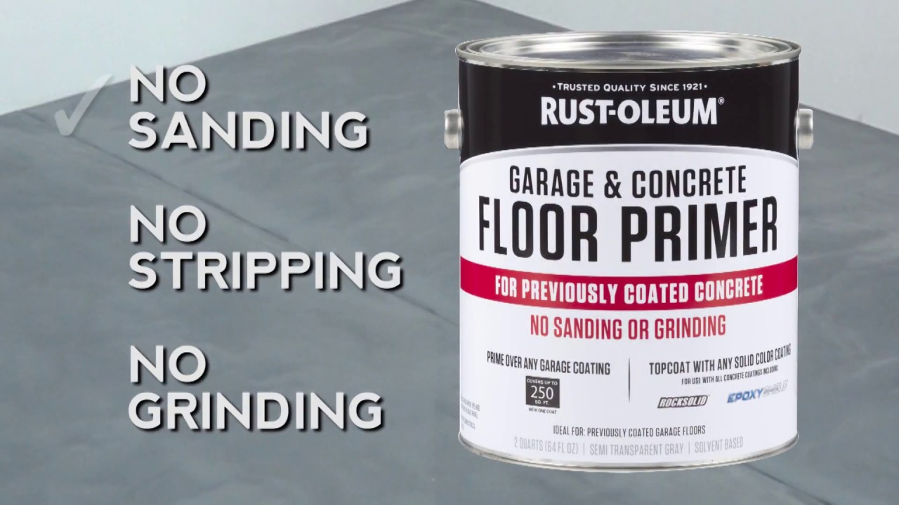 Garage Floor Epoxy Primer How To Use Rocksolid Garage Concrete Primer For Previously Coated Floors