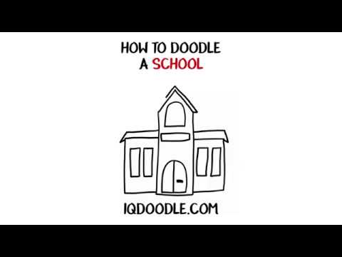 How to Draw a School (drawing tips)