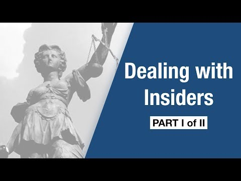 Company Law - Dealing with Insiders [Part I]