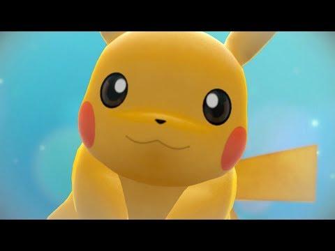 Pokémon Let's Go Pikachu - Walkthrough Part 1 - Intro, Pallet Town + Gym Leader Brock