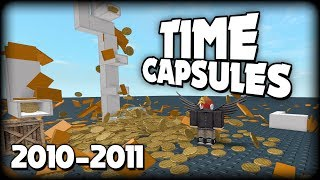 Time Capsules from 2010-2011 (ROBLOX)