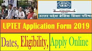 UPTET Application Form 2019 Process, Dates, Eligibility, Apply Online