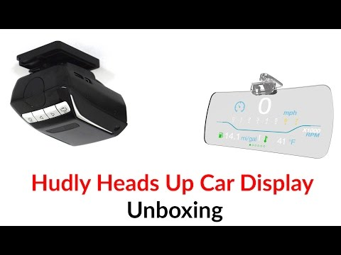 Hudly Heads Up Car Display Unboxing