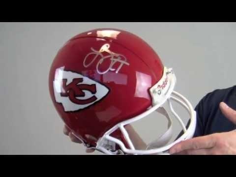 Larry Johnson Signed Kansas City Chiefs Replica Helmet - JSA