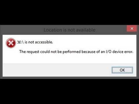 M: is not accessible-The request could not be performed because of an I/O device error [Hindi]