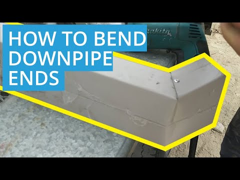 How to Cut and Bend Downpipe Ends for a Shed or House   D.I.Y Roys Sheds