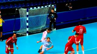 Handball Russia against Hungary ( Highlights HD )