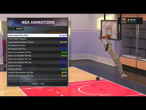 NBA 2K16 Best Signature Styles and Animation for Inside Center
