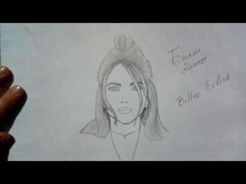 Как нарисовать портрет Билли Айлиш/How To Draw Billie Eilish?