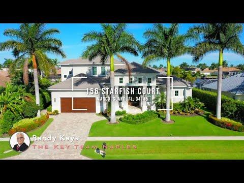 156 Starfish Ct, Marco Island, Fl 34145 - Luxury Waterfront Home Tour Marco Island