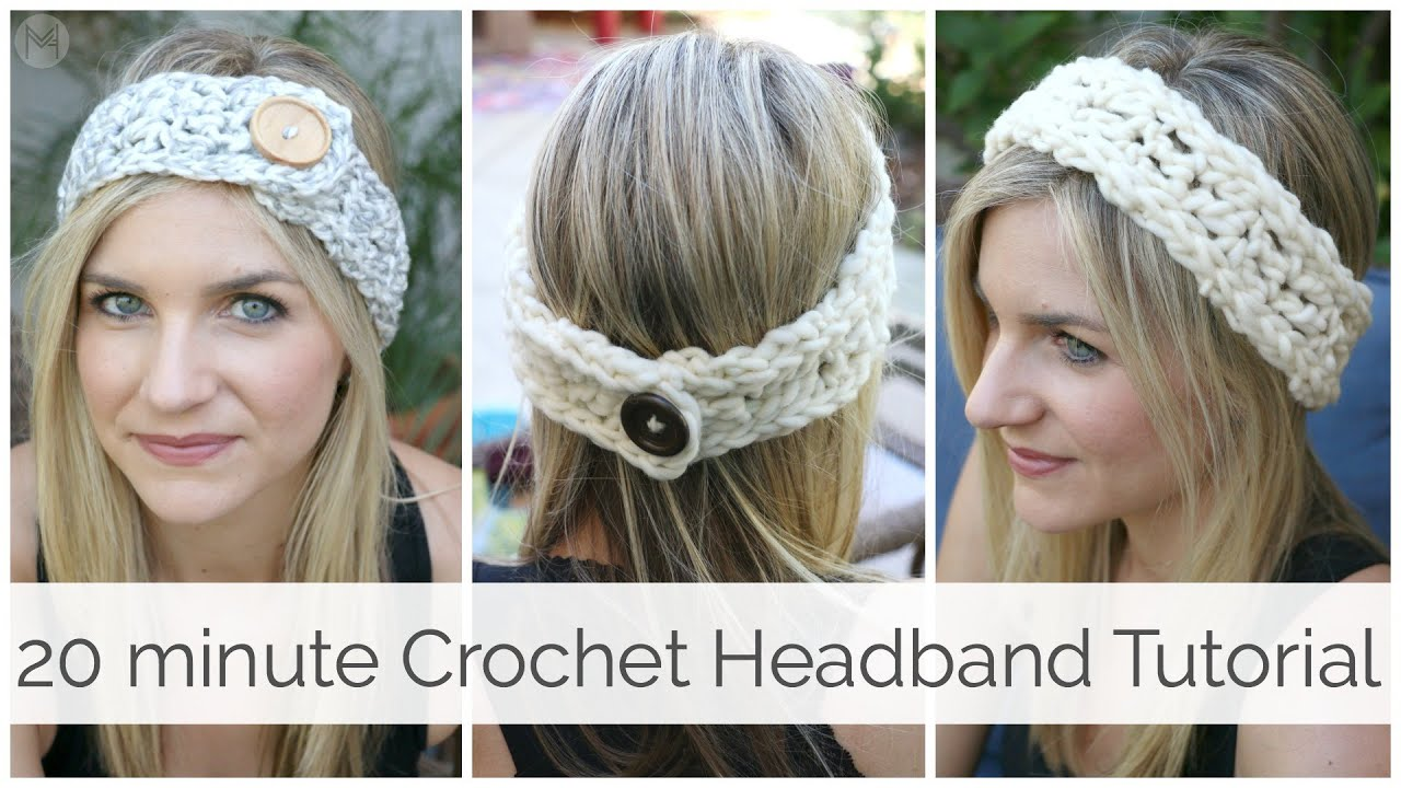 How to crochet a headband in 20 minutes tutorial youtube baditri Image collections