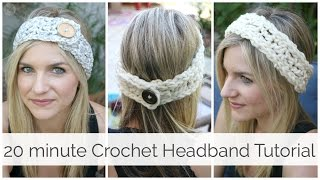 How to Crochet a Headband in 20 minutes Tutorial