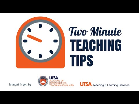 Two Minute Teaching Tip - Patricia Sánchez, PhD - Adding Online Classes to Your Semester