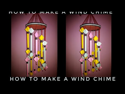 How to make a wind chime with DIY paper at home