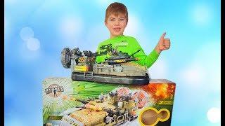 Ричард и братик открывают новую игрушку танк