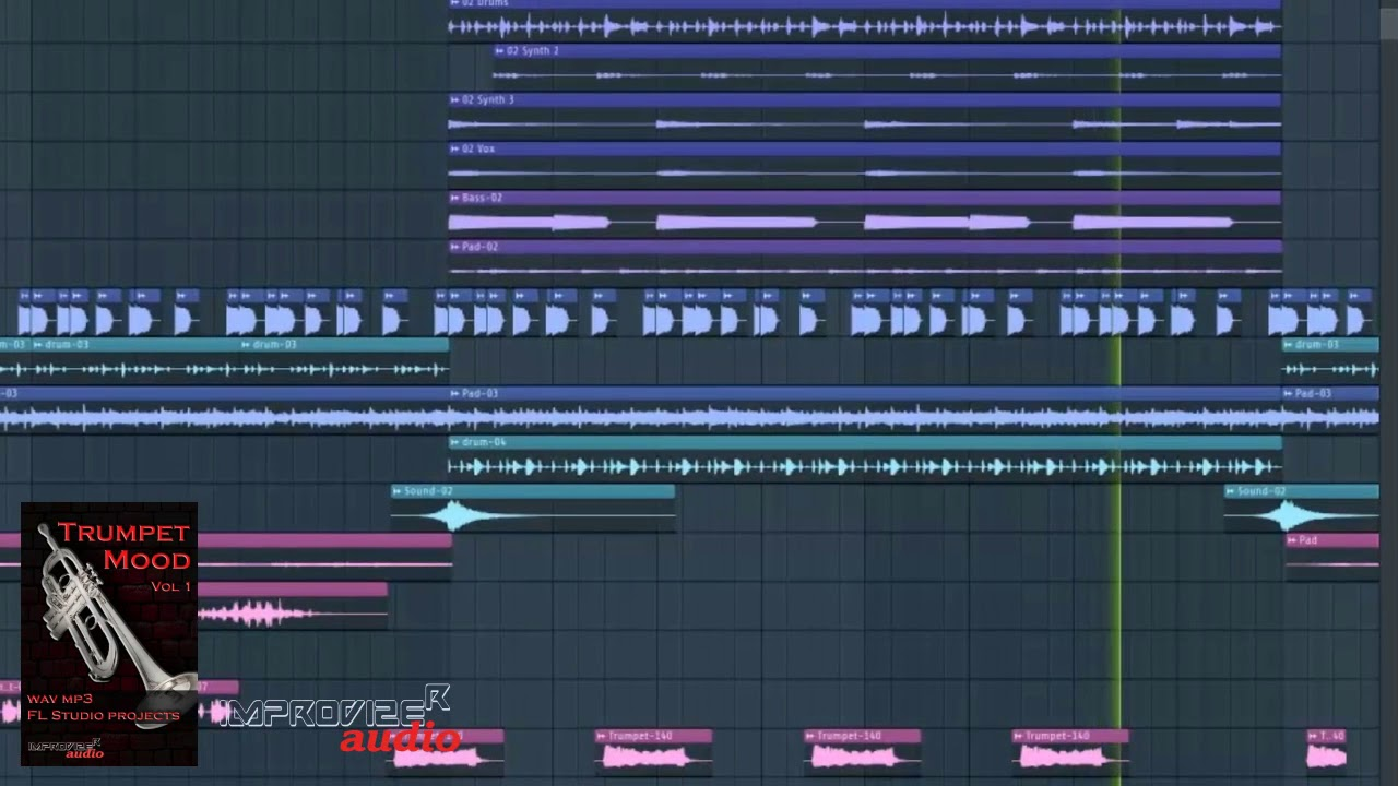 Trumpet loops library, Royalty Free Wav, mp3, FL Studio projects, EDM,  fruity loops beats