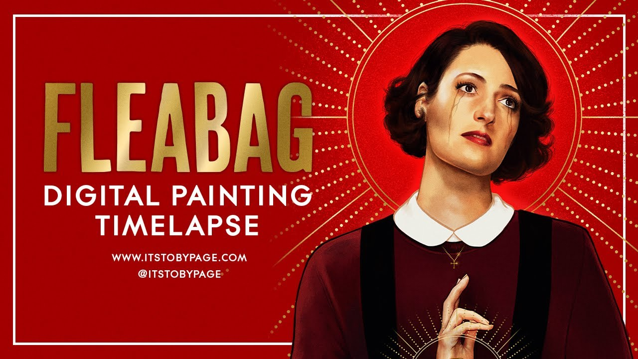 Fleabag Digital Painting Timelapse