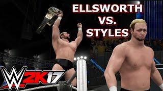 wwe 2k17 james ellsworth vs a j styles wwe world championship match simulation
