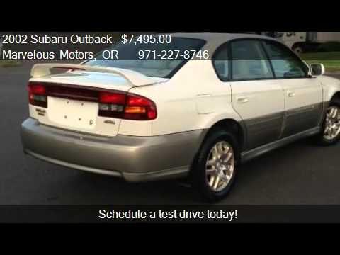 2002 Subaru Outback Limited Sedan For Sale In Portland Or Youtube