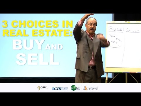 Three Choices in Real Estate: Buy and Sell