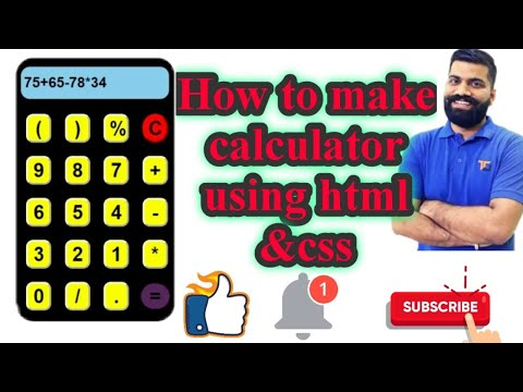 How To Make Calculator Using Html And Css.