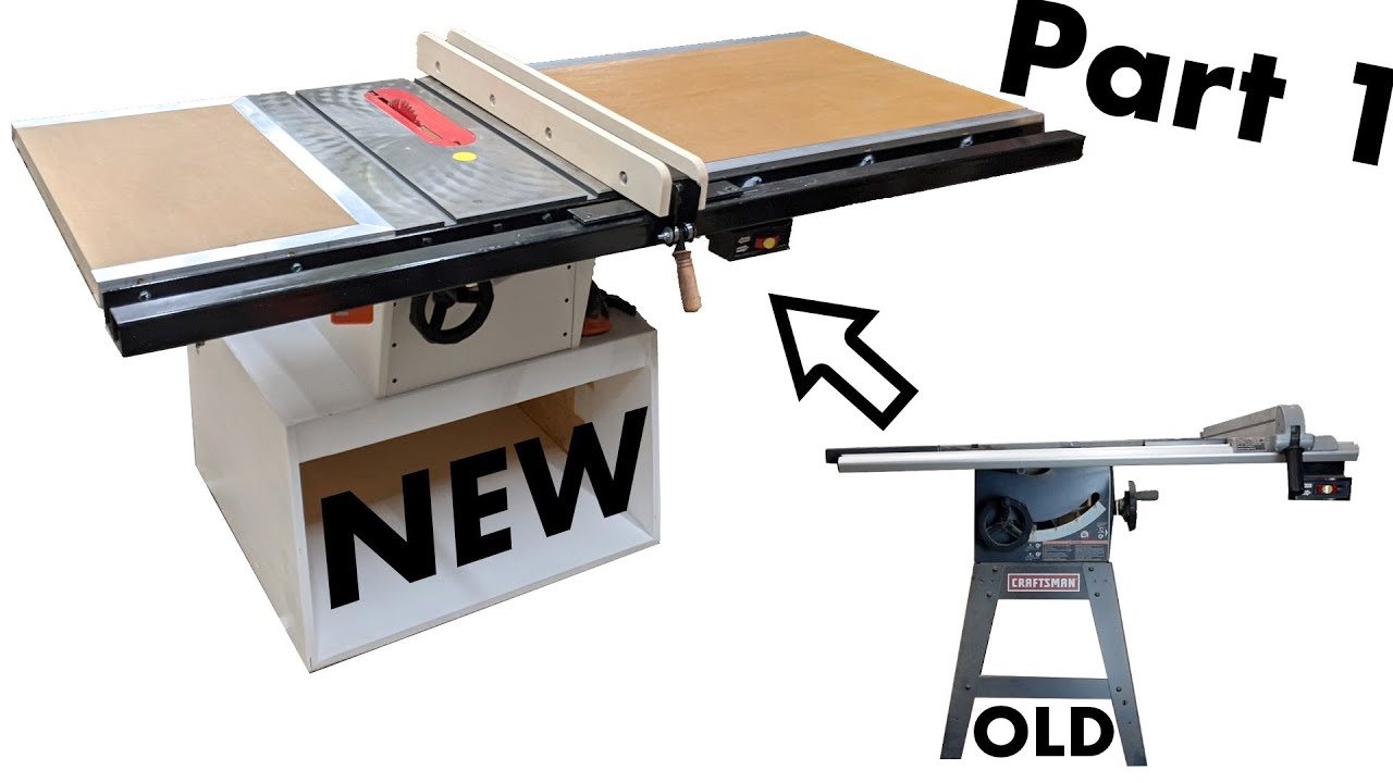 Completely Rebuilding My Old Table Saw - Part 1: The Base