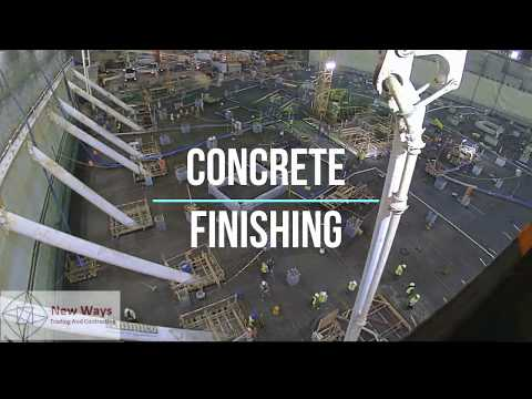 Concrete Finishing For Raft Foundation of Tower in Qatar