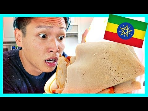 ASIAN TRIES ETHIOPIAN FOOD!!!