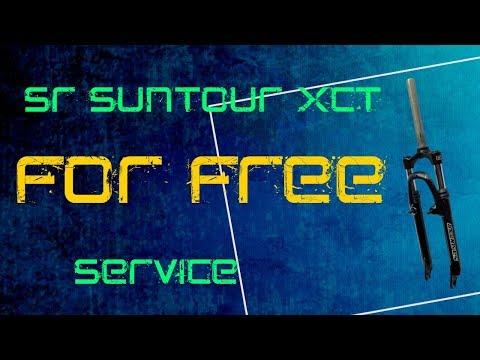 How to service SR SUNTOUR XCT fork - lower legs