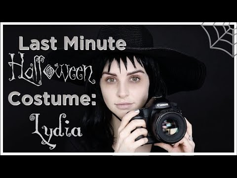 Last Minute Halloween Costume Idea Lydia From Beetlejuice Youtube