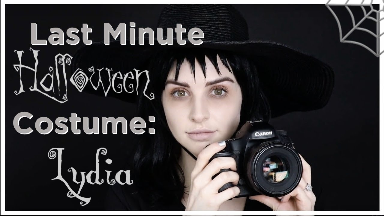 Last Minute Halloween Costume Idea Lydia From Beetlejuice Youtube