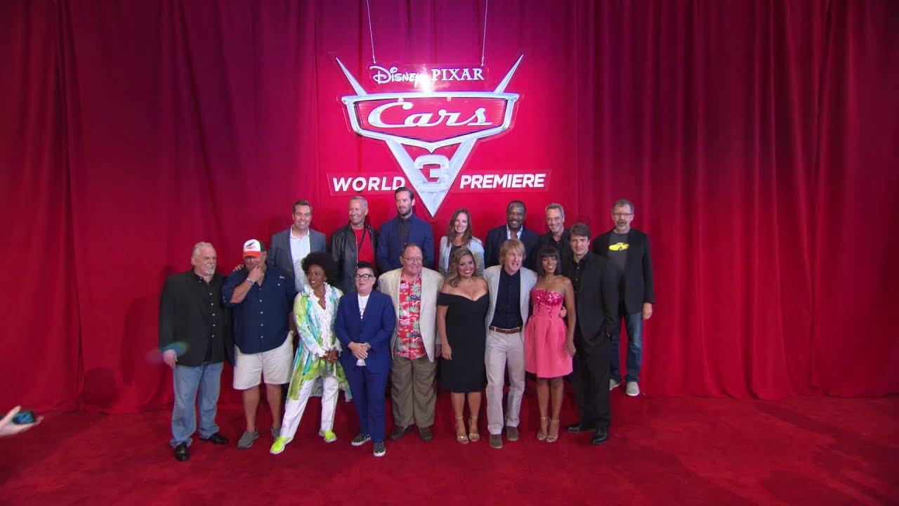 cars 3 world premiere red carpet 2017 pixar animation youtube