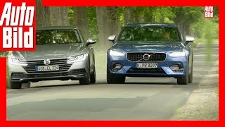 VW Arteon gegen Volvo S90 2017 Arteon im ersten Oberklasse Duell