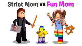 Roblox STRICT Mom vs FUN Mom.. 📝👧💖