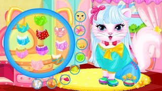 Кошечка в салоне красоты. Интерактивный мультик о животных.