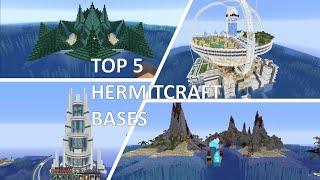 Top 5 Hermit Bases (Hermitcraft season 6)