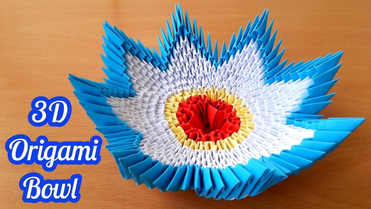 How To Make 3D Origami Bowl Tutorial By Are Life Ka Padarit