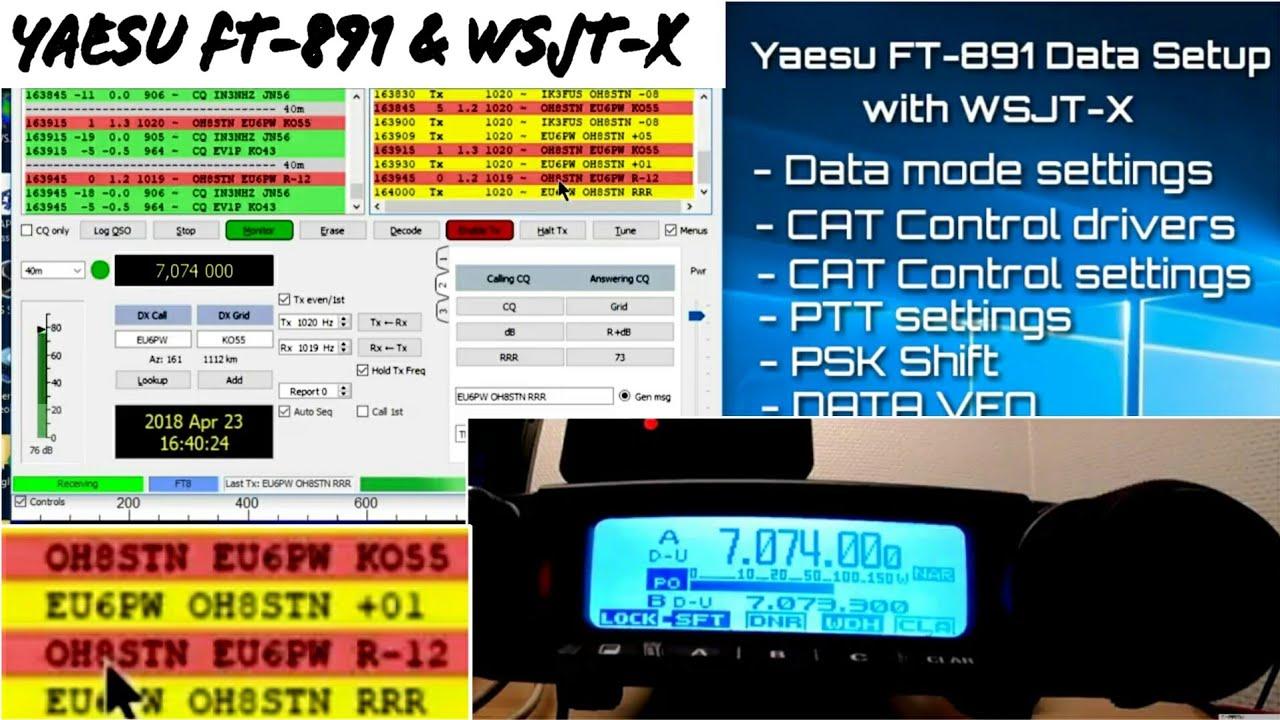 WSJT-X FT8 Yaesu FT-891 Data & CAT Conttol tutorial | QRZ Forums