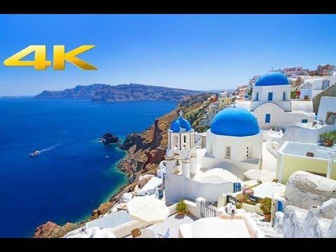 Santorini, Oia Greece   4K - Drone