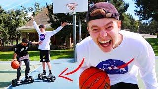 CRAZY BASKETBALL CHALLENGE!! (ON HOVERBOARDS)