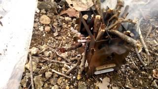 Bushcraft Essentials Bushbox: Pitiful Wood Stove.