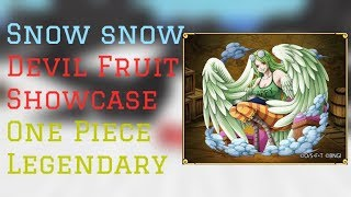 Snow Snow Devil Fruit Showcase | One Piece Legendary Roblox | ConFuseeed