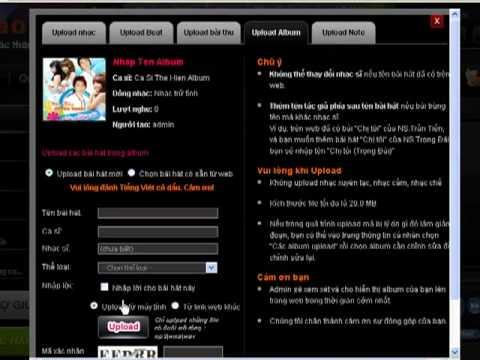 Huong dan upload bai hat len karaoke.com.vn