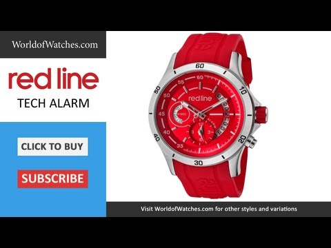 RED LINE Men's Tech Alarm Red Dial Red Silicone 50021-05-RD