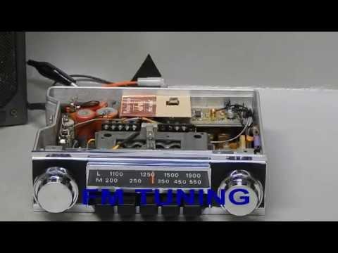 CLASSIC CAR RADIO RADIOMOBILE VINTAGE mp3 ipod FM - YouTube