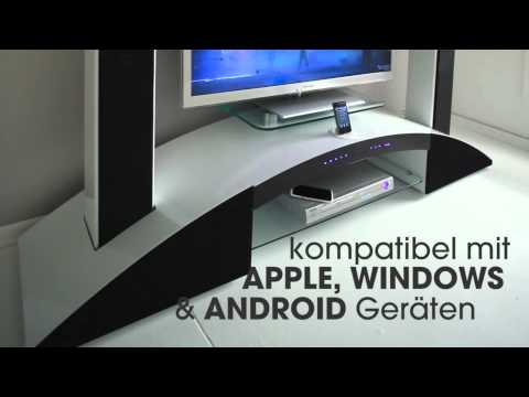 sound tv unterschrank tv schrank mit lautsprecher youtube. Black Bedroom Furniture Sets. Home Design Ideas