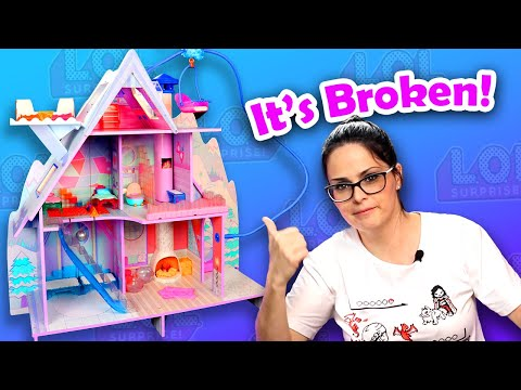 My $420 Doll House Came Broken! - LOL Winter Disco Chalet